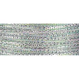 Ziehschleifen Band schillernd silber - 3 Meter