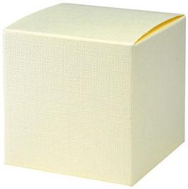 Geschenkbox Würfel creme, 10 Stück - 7x7x7 cm