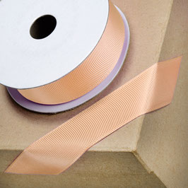 Ripsband peach 25mm - 10 Meter