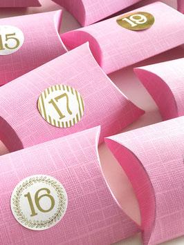 Pillow Box pink - 10x10x3,5 cm, 10 Stück