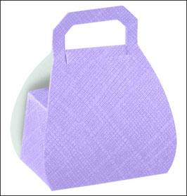 Handtaschen Geschenkschachtel fliederfarben, 10 Stück - 6,5x 4x 8 cm