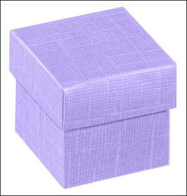 Geschenkschachtel fliederfarben Quadrat mit Deckel