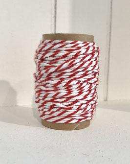 Bäckergarn rot/weiß - 10 Meter