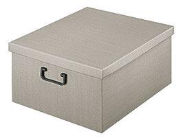 XXL Ordnungsbox mit Plastikgriff grau