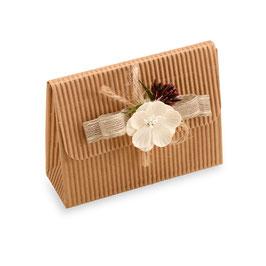 Brieftaschen Geschenkschachtel Natur, 10 Stück