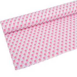 Seidenpapier weiß mit pinken Punkten