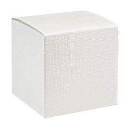 Geschenkschachtel Würfel weiß 7x7x7 cm, 10 Stück