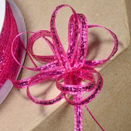 Ziehschleifenband schillernd pink - 5 Meter