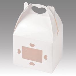 Cookie Geschenkschachtel weiß Herz  - 2 Stück