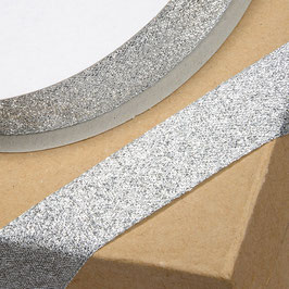 Lurex Band silber-metallic 23mm - 5 Meter