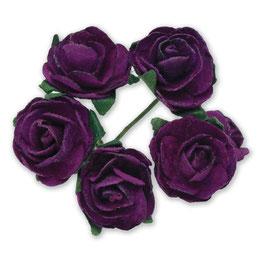 12 Mini Rosen violett