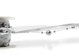 Perlengirlande silber-weiß - 1 Meter