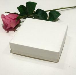 Geschenkbox weiß mit Deckel Quadrat flach