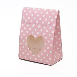 Sacchetto Geschenkschachtel rosa Dots, 10 Stück