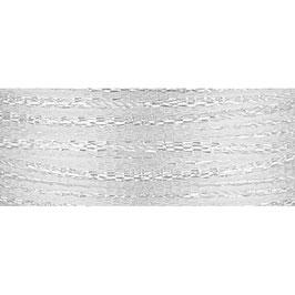 Ziehschleifen Band schillernd weiß - 3 Meter