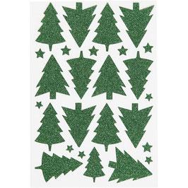 Glitzer Sticker Tannenbäume