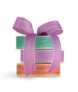 Geschenkband multicolor türkisgrün - 5 Meter