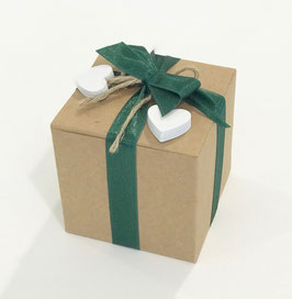 Geschenkbox Würfel Kraftkarton 12x12x12 cm, 10 Stück