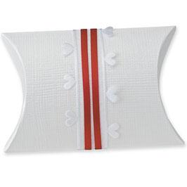 Pillow Box weiß mittel, 10 Stück - 8,5x8,5x3 cm