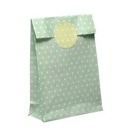 10 Papiertüten mit passendem Sticker grün