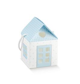 "Geschenkbox ""Haus"" Bloom Azzuro - 8x8x8 cm"