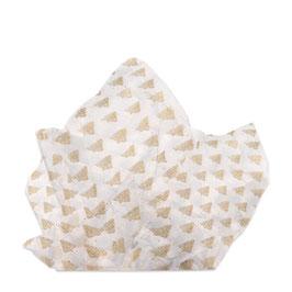 Seidenpapier weiß mit goldenen Tannenbäumen - 5 Bögen