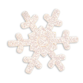 """12 Glitter Schneeflocken """"weiß"""""""