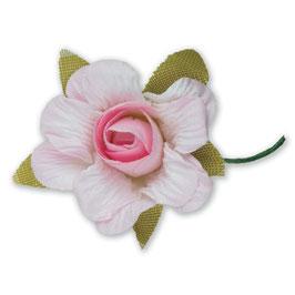 6 Papier Rosen rosa