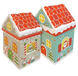 XMAS Haus Geschenkboxen-Set, ca. 10x15 cm
