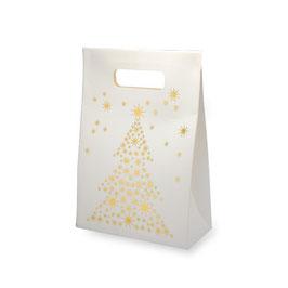 Geschenktasche mit goldenem Weihnachtsbaum