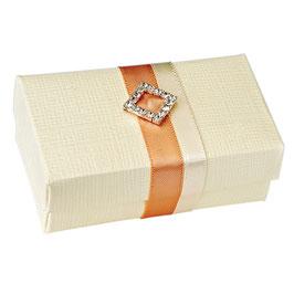 Geschenkschachtel Rechteck mit Deckel creme klein, 10 Stück