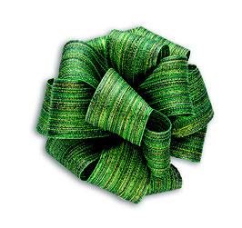 Grün-gold schimmerndes Geschenkband 40mm - 5 Meter