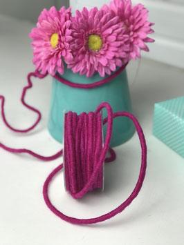 Wollkordel pink dick mit Draht - 2 Meter