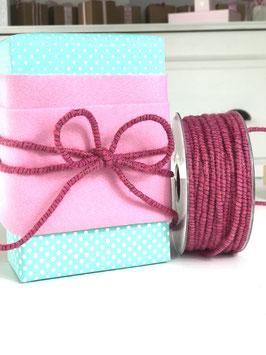 Dochtfaden mit Draht und Lurex pink - 5 Meter