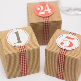 24 Adventskalender Schachteln Würfel Wellkarton