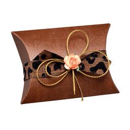 Kissen Geschenkschachtel braun (Pillow Box), 10 Stück
