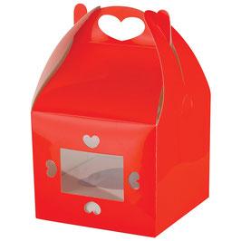 Cookie Geschenkschachtel rot Herz - 2 Stück