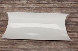 XL Kissen Geschenkschachtel glossy weiß (Pillow Box)