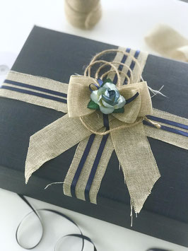 Geschenkschachtel gross Rechteck mit Deckel blau