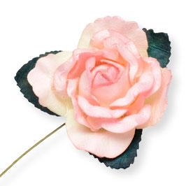 Große Papier Rose rosa, 3 Stück