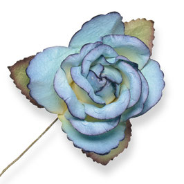 Große Papier Rose blau, 3 Stück