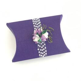Pillow Box klein lila, 10 Stück - 7x7x2,5 cm
