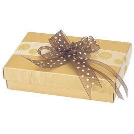 Geschenkschachtel Rechteck mit Deckel gold
