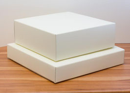 Geschenkbox quadratisch Cio 350 creme - 35x35x6 cm