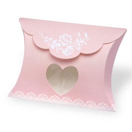 Pillow Box Vintage rosa, 10 St. - 8x8,5x3 cm