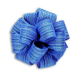 Blau-silber schimmerndes Geschenkband 40mm - 5 Meter