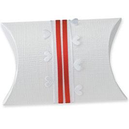Kissen Geschenkschachtel weiß (Pillow Box), 10 Stück