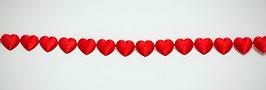 Herz-Girlande rot 2 Meter