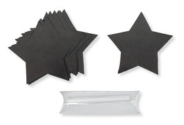 Tafelsticker Stern mit Kreide, 15 St.