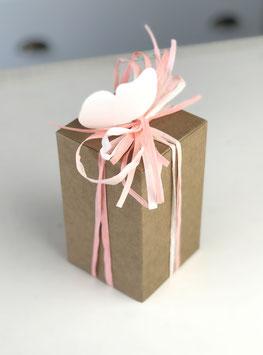 Geschenkschachtel aus Kraftkarton 8x8x13 cm, 10 St.